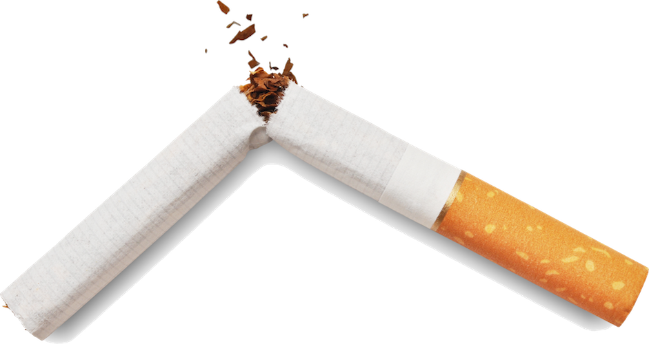 A cigarrette broken in half